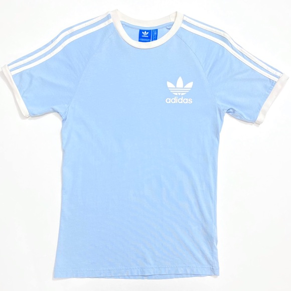 adidas Shirts   Adidas Originals 3 Stripes Ringer Tee   Poshmark